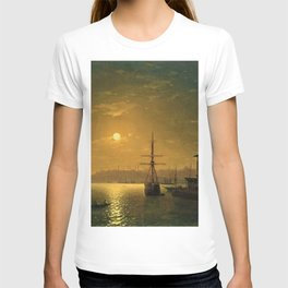 Constantinople (Istanbul) by Moonlight by Ivan Aivazovsky T-shirt
