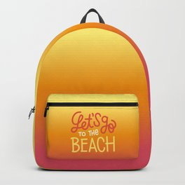 Let's go to the beach 2 Backpack
