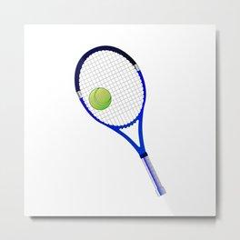 Tennis Racket And Ball Metal Print