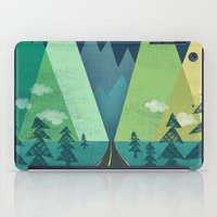 road iPad Cases featuring The Long Road at Night by Jenny Tiffany