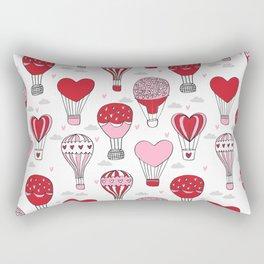hot air balloon love valentines day gifts heart shape girls nursery Rectangular Pillow