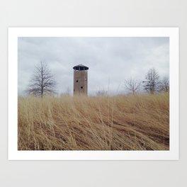 All along the watch tower. Art Print