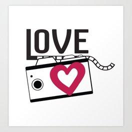 lave camera_film Art Print