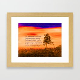 """""""Remembering October"""" Painting with poem Framed Art Print"""