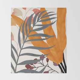 Colorful Red Leaves Throw Blanket