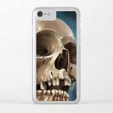 Skull 1 Clear iPhone Case