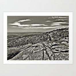 Rocky Landscape Phtography Art Print