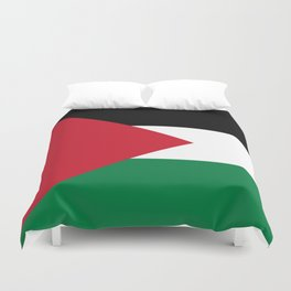 Flag of Palestine Duvet Cover