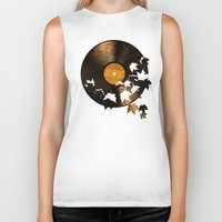 autumn Biker Tanks featuring Autumn Song  by Terry Fan