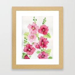 Hollyhocks Framed Art Print