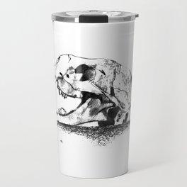mittens - cat skull Travel Mug
