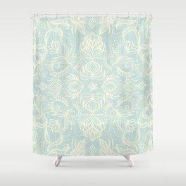 Pale Jade Tattoo - a pattern Shower Curtain