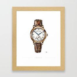 A Lange & Sohne, 1815 Watch Painting Framed Art Print
