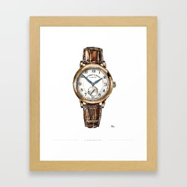 A Lange & Sohne, 1815 Watch Painting Framed Art Print