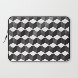 CUBE - gradient black on white Laptop Sleeve