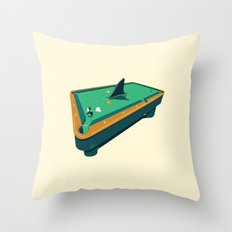 Pool shark Throw Pillow