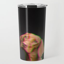 Glitched dog Travel Mug