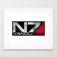 n7 Framed Art Prints featuring N7 Vanguard by Draygin82