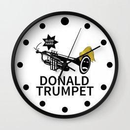 Donald Trump Trumpet Wall Clock