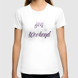 Bon Weekend Grungy lettering T-shirt