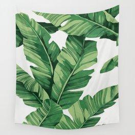 Tropical banana leaves Wall Tapestry