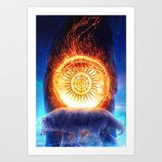 sun menhir Art Print