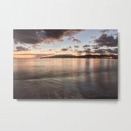 Golden hour in the strait of Messina Metal Print