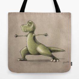 Dinosaur Warrior Tote Bag