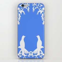 Wedgewood Whimsey-White Birds on Blue iPhone Skin
