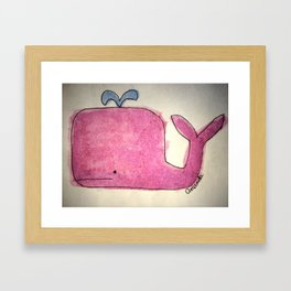 Norman The Whale Framed Art Print
