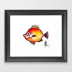 Pesce rosso Framed Art Print