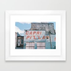 capri pizza sky Framed Art Print
