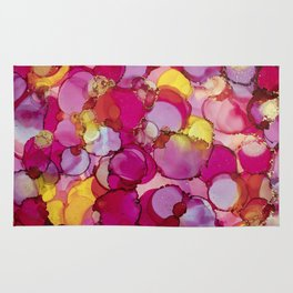 Bed of Roses Alcohol Ink Painting Rug