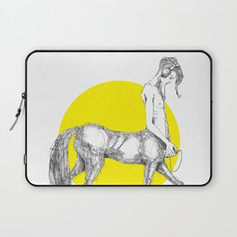 Young centaur with headphones and mp3 player Laptop Sleeve