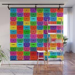 Neon Cassettes Wall Mural