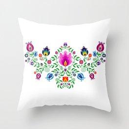 Folk Pattern #2 Throw Pillow