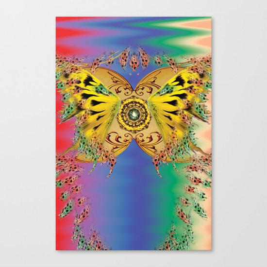 The dance of the butterfly Canvas Print