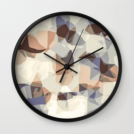 pink blue orange and brown abstract background Wall Clock