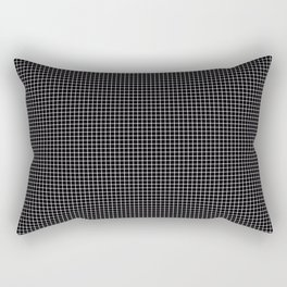 Black and white optical illusion Spots Lines and Squares Rectangular Pillow
