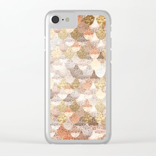 MERMAID GOLD Clear iPhone Case
