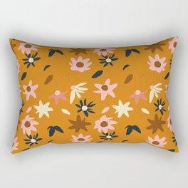 Fall flowers pattern Rectangular Pillow