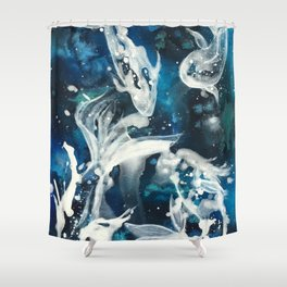 School of Celestial Guardians Shower Curtain