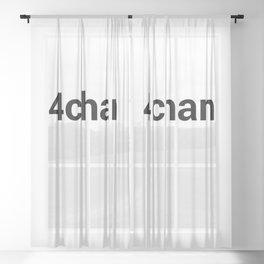 4chan Sheer Curtain