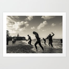Triathlon 3 Art Print
