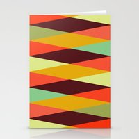 diamonds Stationery Cards featuring multicolor diamond pattern by Gary Andrew Clarke