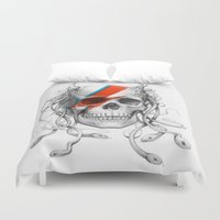 skull Duvet Covers featuring Skull  by Olechka