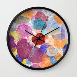 Leaf Mosaic 41 Wall Clock