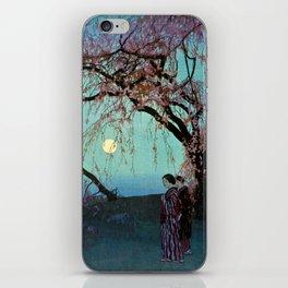 Hiroshi Yoshida Kumoi Cherry Trees iPhone Skin
