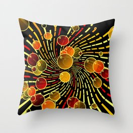 Bubbles and vortex Throw Pillow