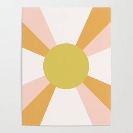 Retro Sun Rays - Morning Light Poster